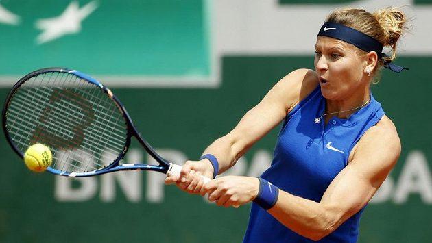 Lucie Šafářová v utkání 2. kola grandslamového French Open.