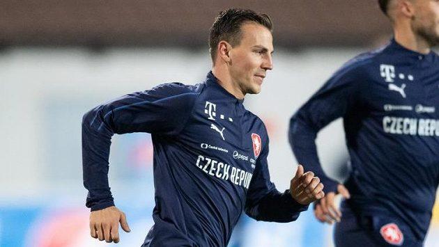 Vladimír Darida během tréninku fotbalové reprezentace.