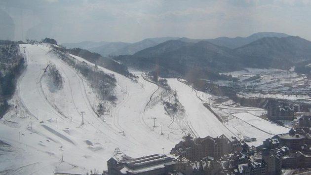 Svahy, kde se budou rozdávat slalomářské medaile.