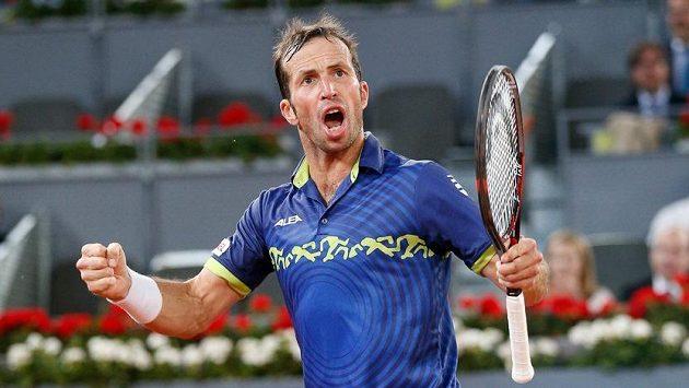 Tenista Radek Štěpánek si zápas proti Andymu Murraymu užíval.