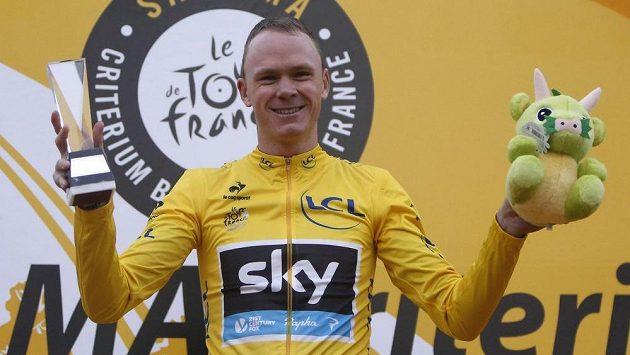 Cyklista Christopher Froome z týmu Sky.