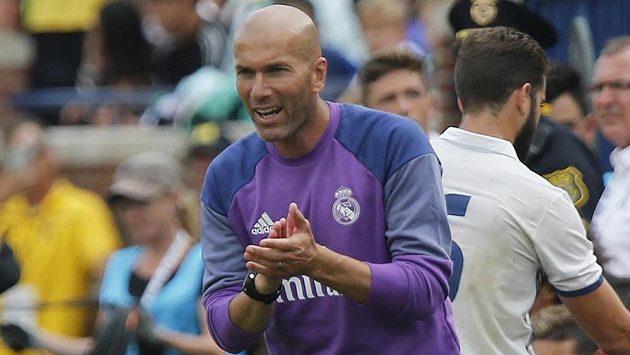 Trenér Realu Madrid Zinedine Zidane.