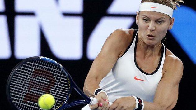 Lucie Šafářová v utkání 2. kola Australian Open.