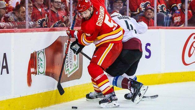 Obránce Calgary Flames Mark Giordano.