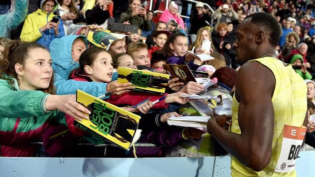 Hlavní hvězda mítinku Zlatá tretra - jamajský sprinter Usain Bolt.