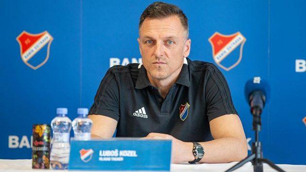 Trenér Baníku Ostrava Luboš Kozel na tiskové konferenci před jarním startem první fotbalové ligy.