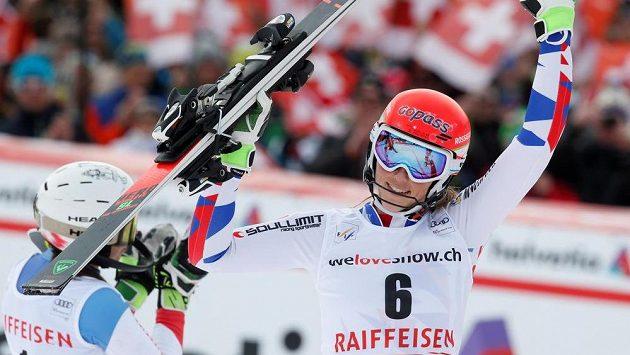 Slovenka Petra Vlhová ovládla slalom SP v Lenzerheide.