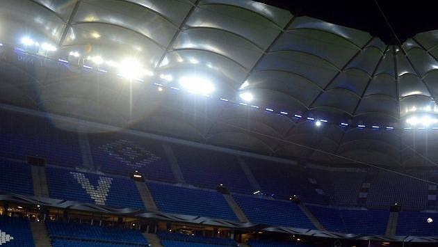 Ilustrační snímek tribuny stadiónu HSV.
