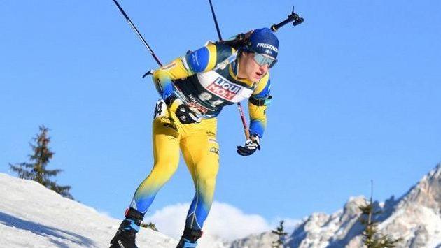 Švédský biatlonista Sebastian Samuelsson v Oberhofu neměl svůj den.