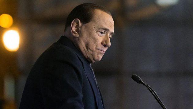 Majitel AC Milán Silvio Berlusconi.