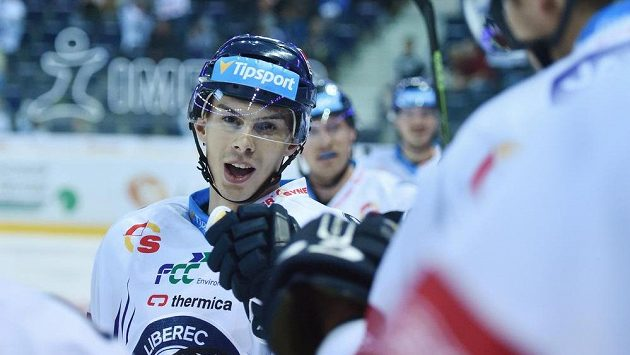 Liberecký Mário Bližňák se raduje z gólu proti Plzni.