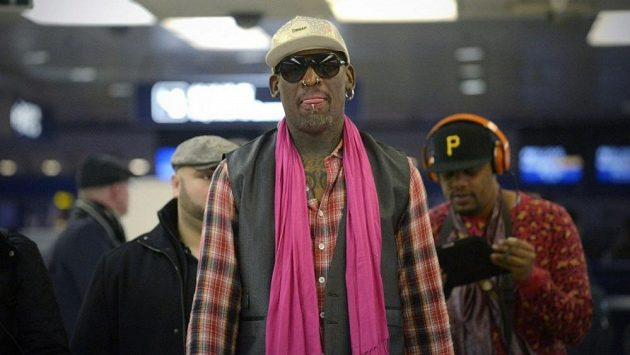 Denis Rodman na archivním snímku.