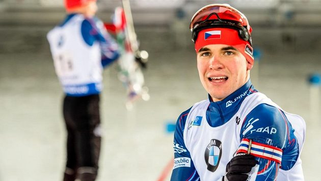 Michal Krčmář při Světovém poháru v Östersundu.