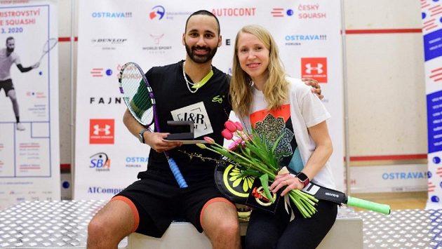 Squash zná nové šampiony - mistrovství republiky vyhrál Dan Mekbib, mezi ženami triumfovala Anna Serme.