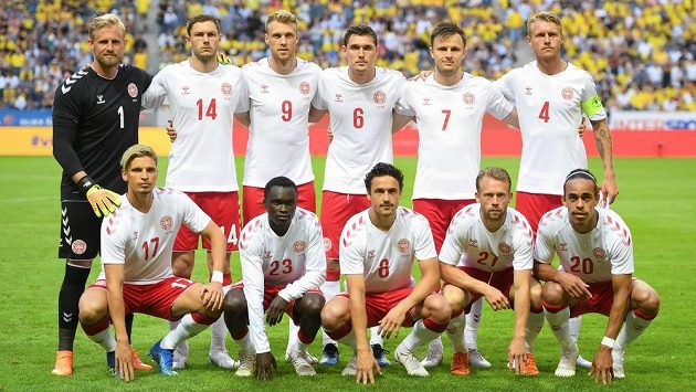 Fotbalisté Dánska - ilustrační foto.