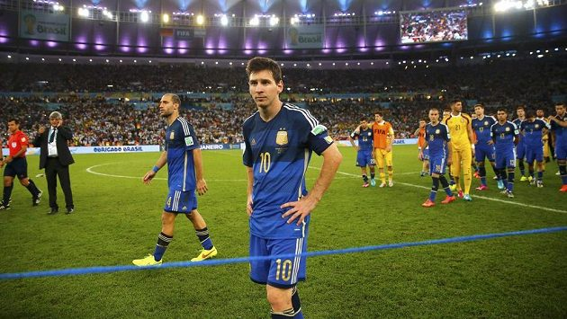 Lionel Messi pro prohraném finále MS.