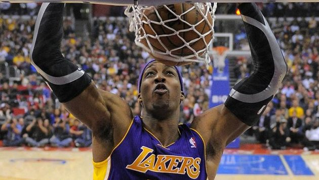 Basketbalista Los Angeles Lakers Dwight Howard.
