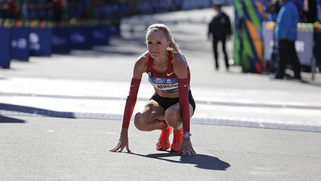 Američanka Shalane Flanagan po loňském newyorském maratonu.