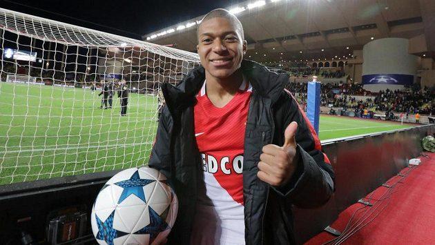 Fotbalista Kylian Mbappé z Monaka.