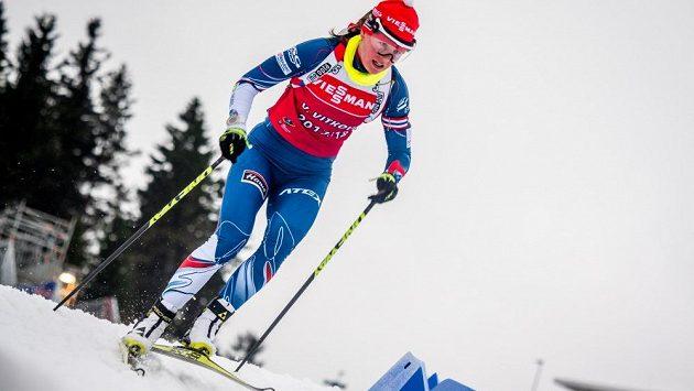Veronika Vítková při tréninku v německém Oberhofu.