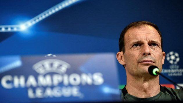 Trenér Juventusu Massimiliano Allegri.