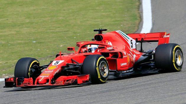 Sebastian Vettel během Velké ceny Číny.