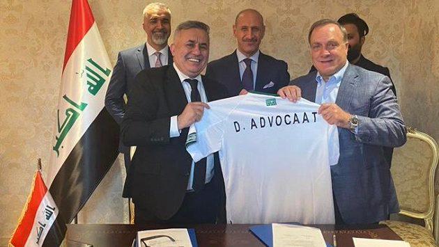 Nizozemský trenér Dick Advocaat(vpravo) se stal novým koučem reprezentace Iráku.