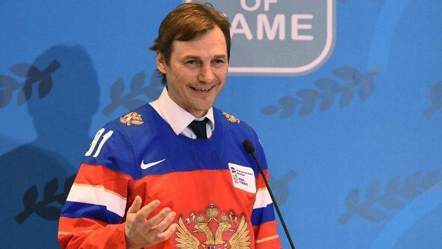 Sergej Fjodorov v roce 2016, kdy byl uveden do Síně slávy.