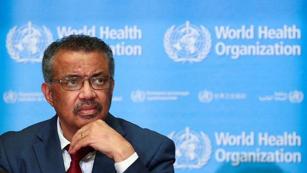 Generální ředitel Světové zdravotnické organizace (WHO) Tedros Adhanom Ghebreyesus v Ženevě.