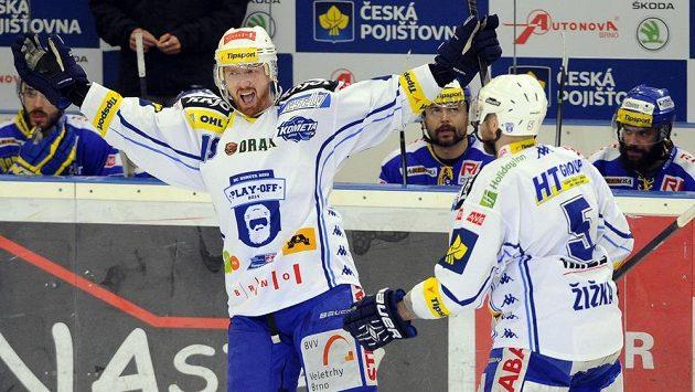 Libor Pivko (vlevo) nebude od příští sezóny hrát za Brno, vrací se totiž do Pardubic.