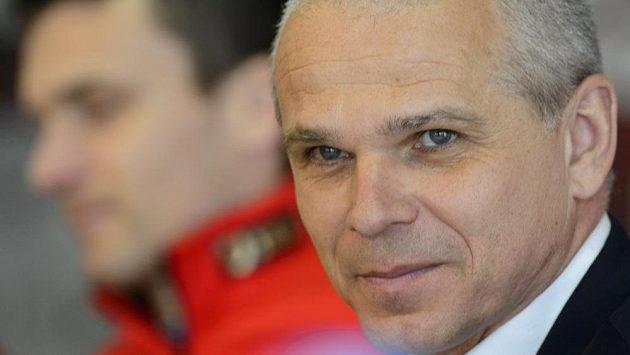 Sparťanský trenér Vítězslav Lavička na středeční tiskové konferenci.