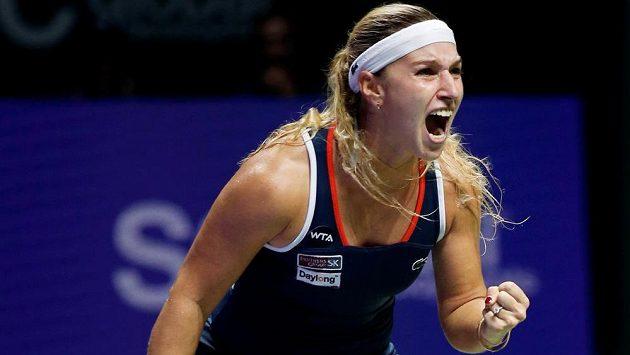 Slovenská tenistka Dominika Cibulková na Turnaji mistryň v Singapuru.