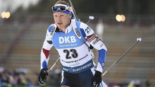 Ondřej Moravec během závodu s hromadným startem.