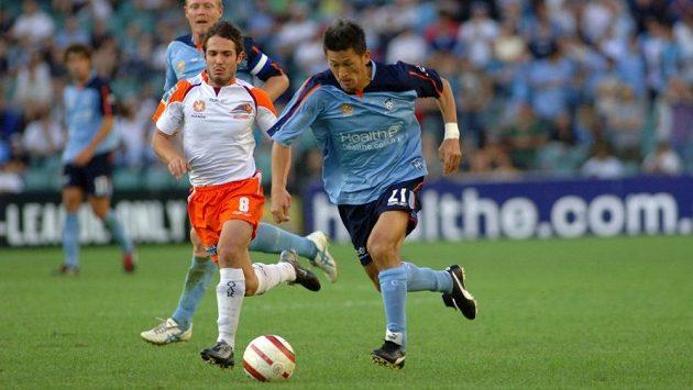 Kazujoši Miura během angažmá v australském FC Sydney, kde nastupoval po boku Dwighta Yorka.