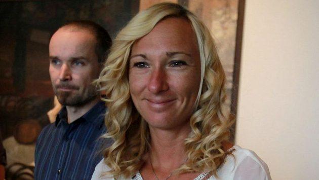 Běžkyně Eva Vrabcová na prezentaci 120. ročníku slavných Běchovic.