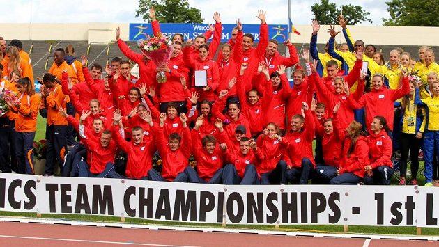 Čeští atleti slaví, v Dublinu vyhráli první ligu mistrovství Evropy družstev.