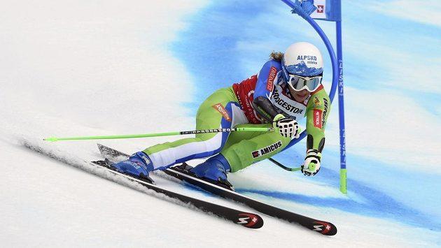 Slovinská lyžařka Ilka Štuhecová vybojovala křišťálový glóbus za kombinaci.