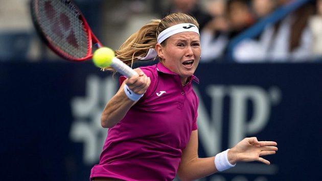 Česká tenistka Marie Bouzková ve finále turnaje v Monterrey.