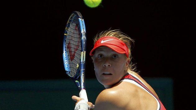 Lucie Hradecká při Australian Open.