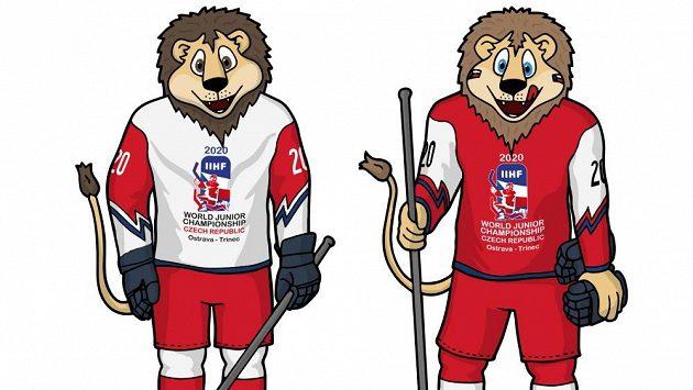 Lvi Ťuk a Puk budou maskoty juniorského hokejového šampionátu, který se na přelomu roku uskuteční v Ostravě a Třinci.