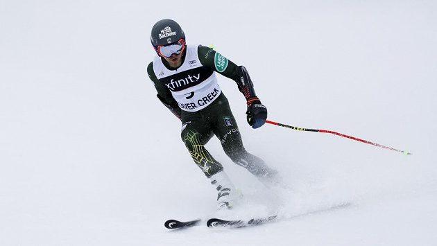 Američan Tommy Ford během obřího slalomu v Beaver Creeku.