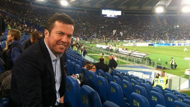 Lothar Matthäus na fotbalovém utkání v Římě.