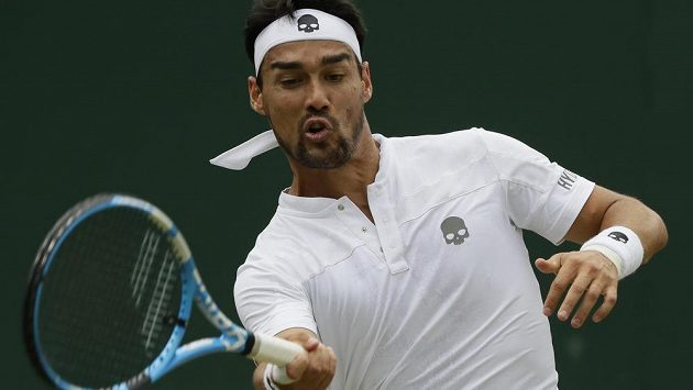 Italský tenista Fabio Fognini může stejně jako loni vyřadit Jiřího Veselého ve Wimbledonu.
