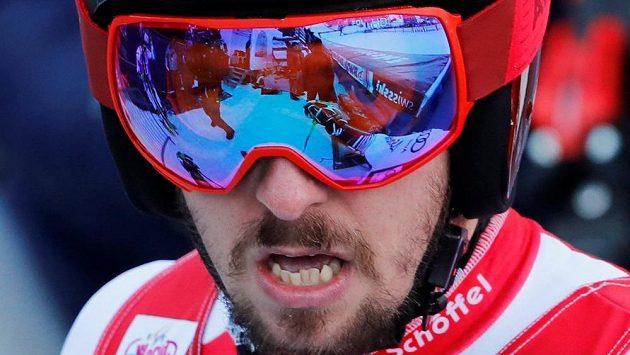 Rakušan Marcel Hirscher v cíli závodu.