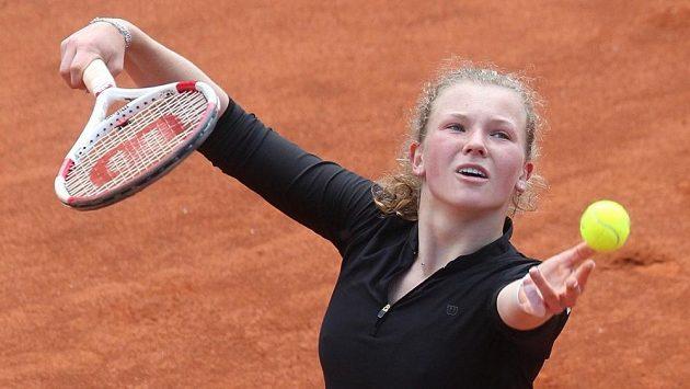 Kateřina Siniaková na snímku z nedávného turnaje v Praze