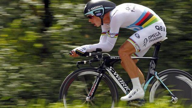 Německý cyklista Tony Martin při časovce na letošní Tour.