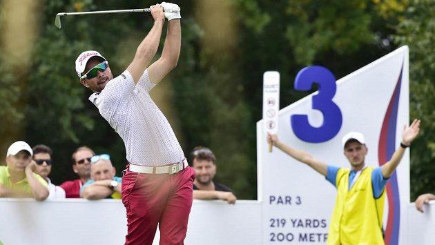 Golfista Filip Mrůzek na Czech Masters.