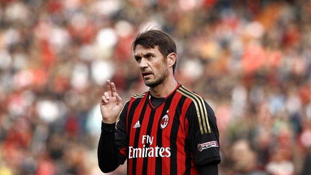 Paolo Maldini v dresu AC Milán