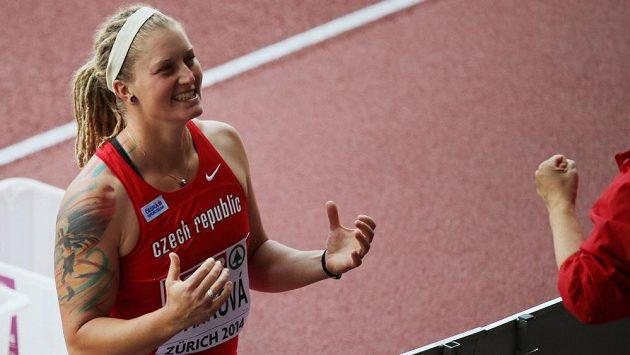 Radost diskařky Elišky Staňkové po postupu do finále mistrovství Evropy.