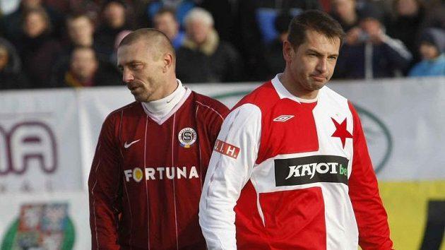 Tomáš Řepka a Pavel Kuka v Silvestrovském derby Sparty se Slavií.